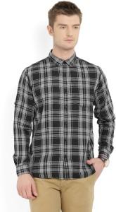 Highlander Men's Checkered Casual Black, White Shirt