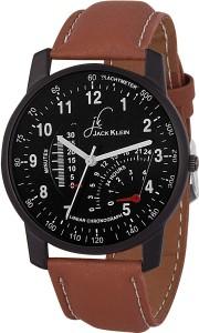 Jack Klein Black Multi-dial Edition Watch  - For Men