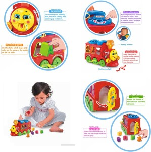 GoAppuGo ABC Train Engine And Fruits Car Shapes Sorter Baby Birthday Gift For 1 2 3 Year Old Boy Gir Multicolor Best Price In India