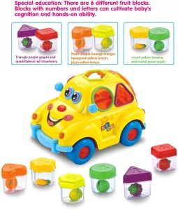GoAppuGo ABC Train Engine and Fruits Car Shapes Sorter Baby birthday gift  for 1 2 3 year old boy girlMulticolor