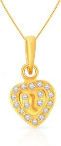 Malabar Gold and Diamonds PDSGHTYA0020 22kt Cubic Zirconia Yellow Gold Pendant