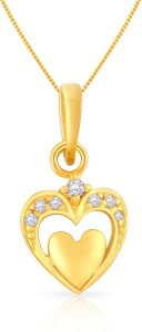 Malabar Gold and Diamonds PDSGHTYA0023 22kt Cubic Zirconia Yellow Gold Pendant