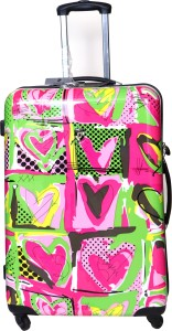 Tramp & Badger Premium Quality Designer Printed Non-Breakable & Extra Light Weight Expandable  Check-in Luggage - 24 Inches