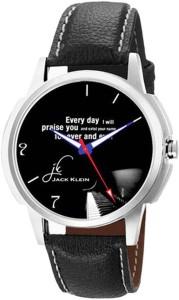 Jack Klein Stylish Black Round Dial Strap Quartz Watch  - For Men