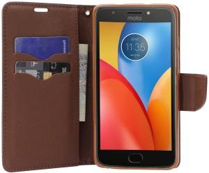 Unistuff Flip Cover for Motorola Moto E4 Plus