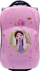 Fortune Chutki Littile Cool Girl 18 inch Kids Car Shape luggage Trolley Bag Cabin Luggage - 18 inch