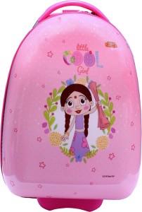 Fortune Chhota Bheem Chutki Littile Cool Girl 17 Inch KIDS Egg Shape Luggage Trolley Bag Cabin Luggage - 17 inch