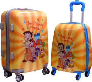 Fortune Chhota Bheem Best Friend Forever Set of 17 and 20 Inch Cabin Luggage - 20 inch