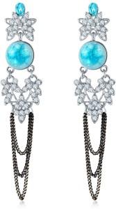 Shimmer Divine Luxuria Crystal Copper Dangle Earring