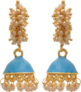 839da90985 JFL-Jewellery For Less JFL - Traditional and Ethnic One Gram Gold Plated  White Pearls