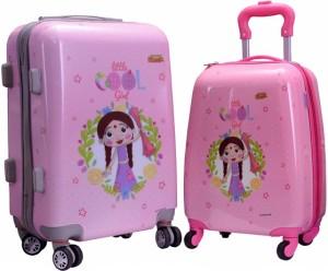 Fortune Chhota Bheem Chutki Littile Cool Girl set of 16+20 Inch Luggage trolley Bag Expandable  Cabin Luggage - 17.20 inch