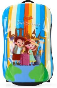 Fortune Chhota Bheem Travel the World 18 inch Kids Car Shape luggage Trolley Bag Cabin Luggage - 18 inch