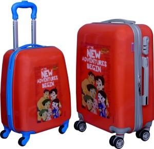 Fortune Chhota Bheem New Adventure Begin set of 17+20 Inch Luggage trolley Bag Cabin Luggage - 17.20 inch