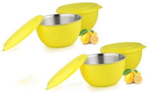 Sayee Yellow bowl of Stainless Steel Stainless Steel Bowl Set