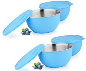 Sayee Blue round stainless steel bowl Stainless Steel Bowl Set