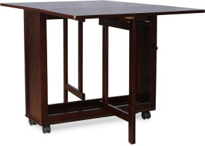69c1cf087 HomeTown Compact Solid Wood 4 Seater Dining Set Finish Color Wenge Best  Price in India