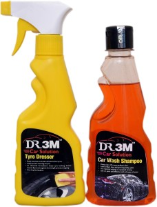 DR3M TYRE POLISH 259ml./ CAR WASH SHAMPOO 250ml. Car Washing Liquid