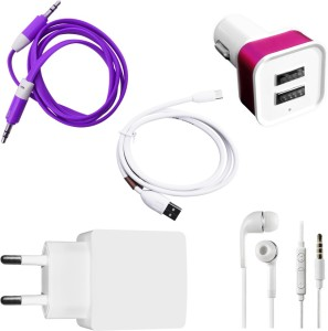 DAKRON Wall Charger Accessory Combo for Xiaomi Redmi Note 3
