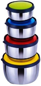 Sayee Glossy Round Multicolor Bowl Steel Bowl Set