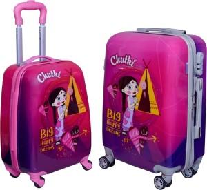 Fortune Chhoota Bheem Chutki Big happy Dreams set of 17+20 Inch KidsLuggage trolley Bag Check-in Luggage - 7.20 inch
