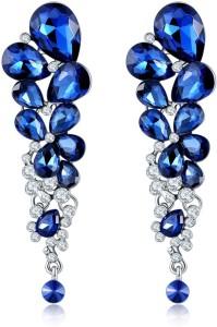 Jewels Galaxy Luxuria Crystal Copper Drop Earring
