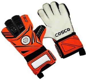 Cosco Protector Goalkeeping Gloves (L, White & Orange)