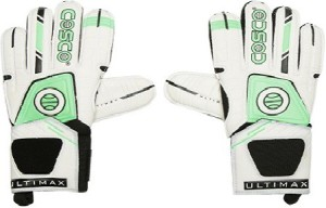 Cosco Ultimax Goalkeeping Gloves (L, White & Green)