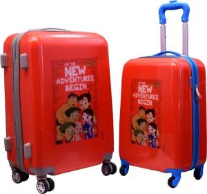 Fortune Chhota Bheem New Adventure Begin set of 18+22 Inch Luggage trolley Bag Cabin Luggage - 18.22 inch