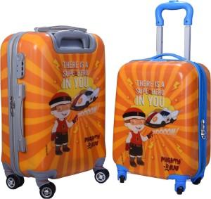 Fortune Chhota Bheem Super Hero In You set of 16+20 Inch Luggage trolley Bag Cabin Luggage - 17.20 inch