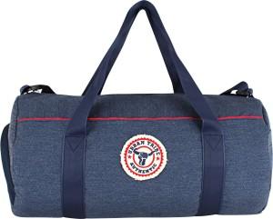Urban Tribe Barrel Indigo Authentic Shoe Compartment Gym Bag