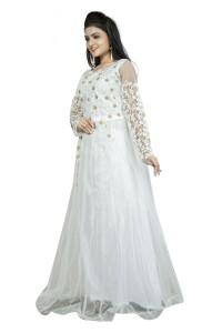 0d971656cf19 Smart Shop Anarkali Gown White Best Price in India | Smart Shop ...