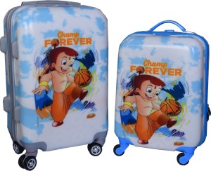 Fortune Chhota Bheem Champ Forever set of 17+20 Inch Luggage trolley Bag Cabin Luggage - 17.22 inch