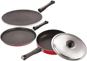 Omic Classic Range Combo Set of Dosa Tawa, Concave Tawa & Fry Pan Cookware Set