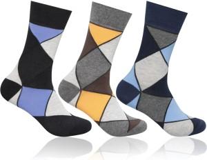 48689f68a20 Supersox Men Geometric Print Mid-calf Length Socks ( Pack of 3 )
