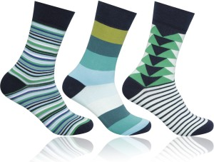 7aa149a5e46 Supersox Men Striped Mid-calf Length Socks ( Pack of 3 )