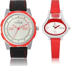 LOREM VL42LR206 New Latest Stylish Designer Leather Belt Attractive Different Combo Watch  - For Men & Women