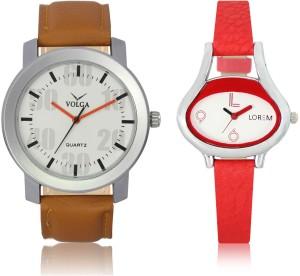LOREM VL27LR206 New Latest Stylish Designer Leather Belt Attractive Different Combo Watch  - For Men & Women