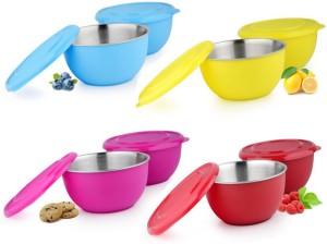 Meenamart Multicolour Stainless Steel Bowl Set