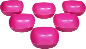 Homray Opulent Square Bowls, 350ml, Set of 06 Polypropylene Bowl Set