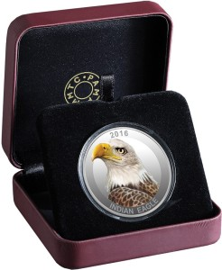 MMTC-PAMP India Pvt Ltd Bird series - The Eagle S 9999 31.1 g Silver Coin