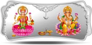 MMTC-PAMP India Pvt Ltd Stylized Lakshmi Ganesha S 9999 100 g Silver Bar