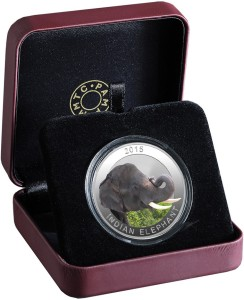 MMTC-PAMP India Pvt Ltd Wildlife series - The Indian Elephant S 9999 31.1 g Silver Coin