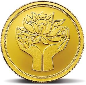 MMTC-PAMP India Pvt Ltd Lotus series 24 (9999) K 2 g Gold Coin