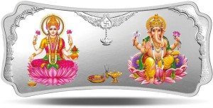 MMTC-PAMP India Pvt Ltd Stylized Lakshmi Ganesha S 9999 50 g Silver Bar