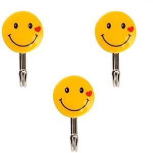 HOKIPO Self Adhesive Smiley 1 - Pronged Hook