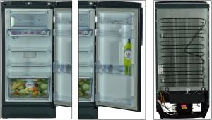 Godrej 190 L Direct Cool Single Door RefrigeratorIndigo Floret, RD EDGE PRO  190 CT 3 2