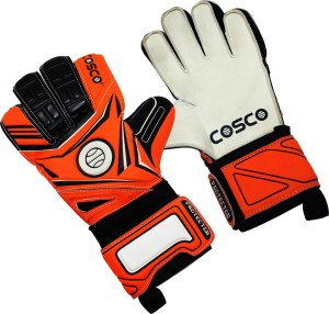 Cosco Protector Goalkeeping Gloves (M, Black & Orange)