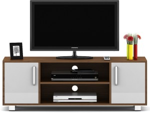 190beb362 Spacewood Modern Engineered Wood TV Entertainment Unit Finish Color ...