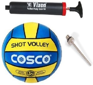 Cosco Combo of 3, 1 Shot Volleyball, 1 Vixen Pump, And Needle. Volleyball -   Size: 4