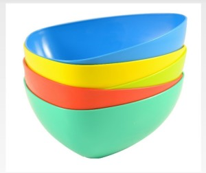 Action Ware Eco Triangle Bowl Plastic Disposable Bowl Set